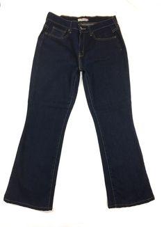ed24a419165 LEVI S 515 Womens Bootcut Jeans Size 6 Short   Cotton Stretch Dark Denim  Pants  Levis