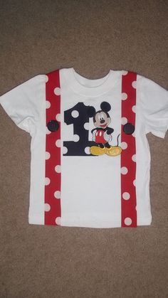 Mickey Mouse Birthday Suspenders T shirt