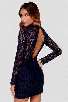 bd2a86a1b3a6 Cool navy blue lace dress 2018 2019 Check more at http   myclothestrend