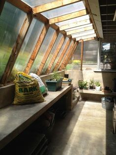 cool little greenhouse attached to house