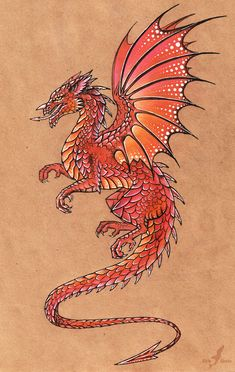 Welsh dragon by =AlviaAlcedo on deviantART
