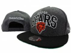 RSS Product Feed :: Wholesale - Chicago Bears Nylon Gray Black Mitchell And Ness Snapback Hats