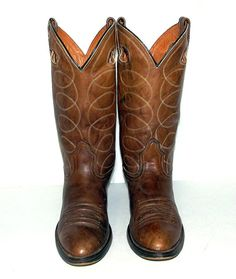 Vintage Acme Brown leather Cowboy Boots  by honeyblossomstudio