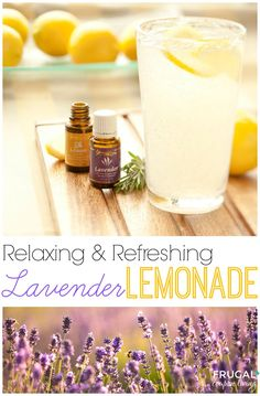 Lavender Lemonade Recipe. This summertime recipe features the health and immune benefits of Essential Oils.  Relaxing and Refreshing Beverage Recipe on Frugal Coupon Living. Essential Oils Recipe.