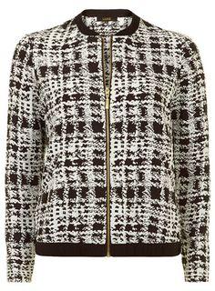 Luxe dogtooth bomber jacket - Jackets & Coats  - Clothing
