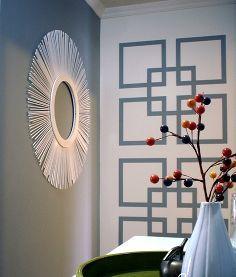 paroi graphique de déclaration, décor à la maison, les couleurs de peinture, peinture, décoration murale