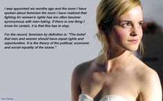 Tired of the portrayal of feminism on imgur. Everyone loves Emma, so here's what she has to say about as the UN Women's Goodwill Ambasador. - Imgur