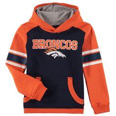 Denver Broncos Youth Allegiance Pullover Hoodie - Orange/Navy - $44.99