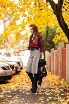 tartan fall outfit