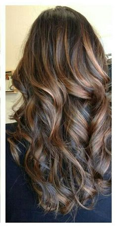 fabulous subtle ombre highlights for long layered hair. good for dark hair