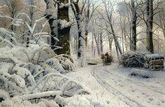 Forest In Winter  Peder Mork Monsted