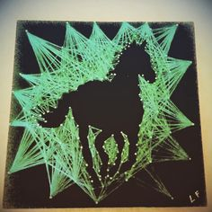Horse string art by FarinelliStringArt on Etsy