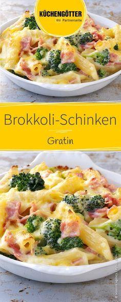 Rezept für Brokkoli-Schinken-Gratin, auch ein tolles Gericht für Kinder