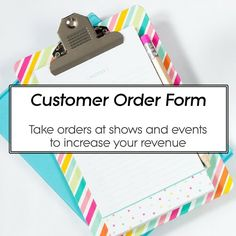 Instant Download  Small Business Mini Order Forms  Size X