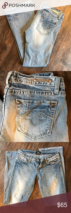 Rerock express distressed light wash jeans Preowned size 6 regular rerock express light wash denim blue jeans distressed look faded legs Express Jeans Boot Cut
