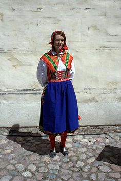 Traditional costume from Dalarna in Sweden.