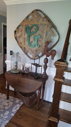 Tobacco basket, dining room side table