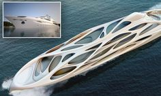 Stunning superyacht yacht designed by award winning architect Dame Zaha Hadid for German shipbuilders Blohm+Voss.