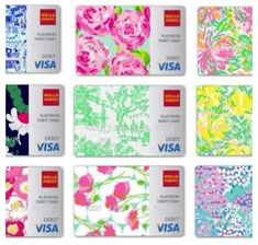 Lilly Pulitzer credit cards. How perfect! #prep #love
