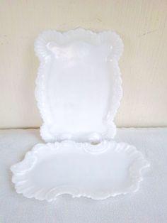 Vintage Milk / White Glass Vanity Jewelry by dogwoodflowerdesigns, $19.00