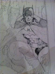 Batman / Jim Lee Jim Lee is terrific Comic Book Artists, Comic Book Characters, Comic Artist, Comic Books Art, Batman Drawing, Drawing Superheroes, Jim Lee Batman, I Am Batman, Cool Sketches
