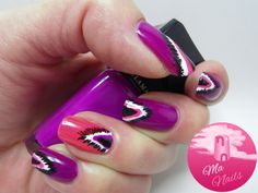 Ikat Design Nails - Ma Nails