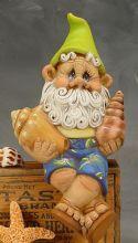 Sigmond Small Beach Gnomes - Unpainted Ceramic Garden Statues