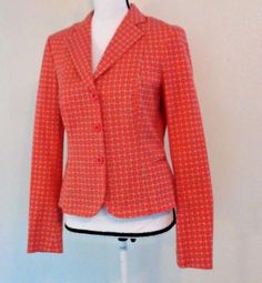 W By Worth Womens Blazer Geometric Print Size 8 Cotten Blend Spring Summer USA  | Clothing, Shoes & Accessories, Women's Clothing, Suits & Blazers | eBay!