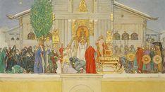 Carl Larsson, Midwinter Sacrifice, 1915, Nationalmuseum, Stockholm, Sweden
