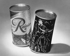 Landor's 1952 package design for Rainier beer