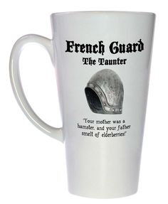 Coffee / tea mug from Monty Python and the Holy Grail - French Guard Helmet. Perfect for fans of Monty Python, or those whose mothers were hamsters.