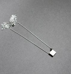 silver square necklace by AMM Jewelry