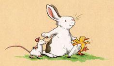 Anita Jeram illustration, cute rabbit!