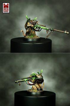 Skaven Jezzail or warlock engineer.