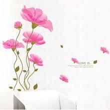 Hot FashionFamily imagem Photo trumpet flor DIY início adesivos de parede decalques / adesivo decoração da casa da parede(China (Mainland))