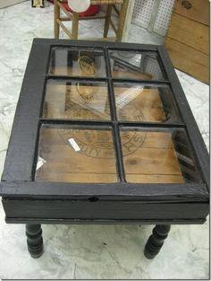 Coffee Table made feom old window
