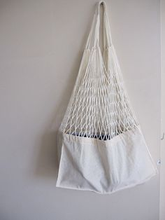 Linen Mesh Market shop bag tote