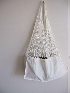 Lino de malla mercado tienda bolso bolso estilo de por Scarves2012