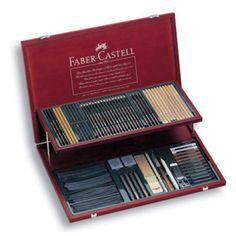 Çizim Malzemeleri :: Resim Kalemleri :: Resim ve Çizim Setleri :: Faber Castell Pitt Koleksiyonu Ahşap Kutulu Tam Set