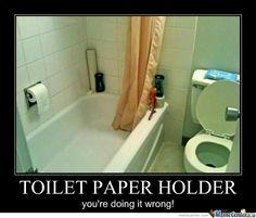 TOILET PAPER HOLDER EPIC FAIL!
