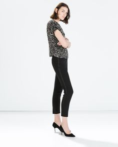 SEQUINNED CROP TOP-Party Edit-WOMAN | ZARA United States