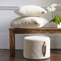 Cozy pillows made from Ugg Australia sheepskin!