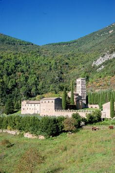 Abbazzia di San Pietro in Valle - Ferentillo, Umbria, Italy Una delle più antiche abbazzie dell'Umbria sorta su un pianoro alle pendici del  Monte  Solenne nel luogo in cui nei  sec. V-VI, vissero gli eremiti siriani Lazzaro e Giovanni.