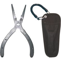 Seachoice Aluminum 6.5 inch Fishing Pliers with Cutter, Includes Holster, Silver