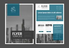 Corporate business flyer template by Orson on @creativemarket