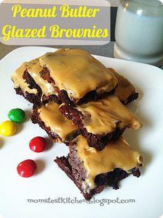Peanut Butter Glazed Brownies - Mom's Test Kitchen
