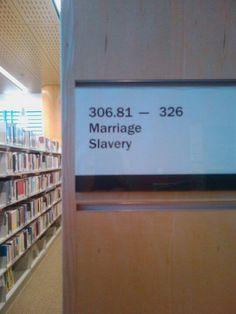 Oh, that Dewey decimal system...