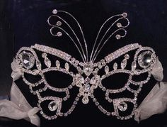 Swarovski butterfly mask! LOVE