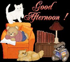 GOOD AFTERNOONS ~M! I hope your having a relaxing afternoon with a nice mug and a good book~xx ; Gud Afternoon, Good Afternoon My Love, Good Afternoon Quotes, Good Day Quotes, Good Morning Quotes, Have A Blessed Monday, Glitter Images, Photos For Facebook, Good Night Gif