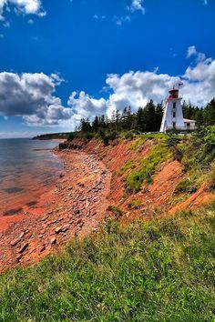 Been to PEI - absolutely beautiful. Cape Bear, Prince Edward Island - located at Cape Bear on the south eastern coast of PEI where it has aided mariners since - Anne McKinnell East Coast Travel, East Coast Road Trip, Prince Edward Island, Nova Scotia, Rocky Mountains, East Coast Canada, Pvt Canada, Places To Travel, Places To Visit